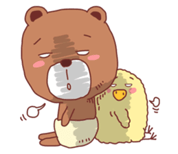 Diaper Bear Love You sticker #6019364