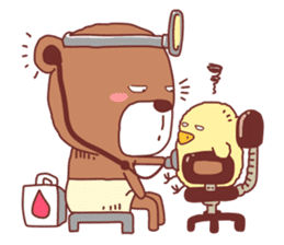 Diaper Bear Love You sticker #6019366
