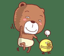 Diaper Bear Love You sticker #6019369