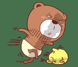 Diaper Bear Love You sticker #6019370