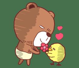 Diaper Bear Love You sticker #6019371