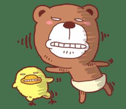 Diaper Bear Love You sticker #6019374