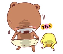 Diaper Bear Love You sticker #6019376