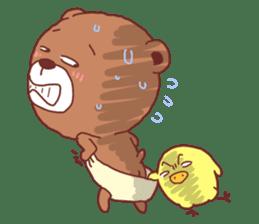 Diaper Bear Love You sticker #6019378