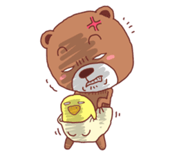 Diaper Bear Love You sticker #6019379