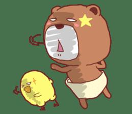 Diaper Bear Love You sticker #6019380