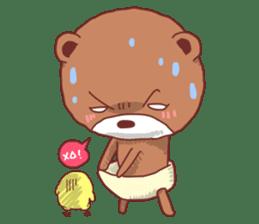Diaper Bear Love You sticker #6019382