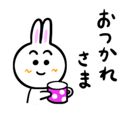 Rabbit tells. sticker #6020465
