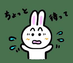 Rabbit tells. sticker #6020468