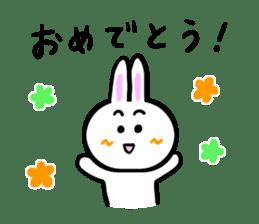 Rabbit tells. sticker #6020475