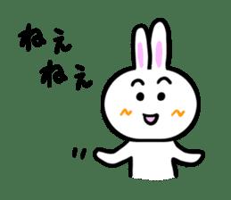 Rabbit tells. sticker #6020478