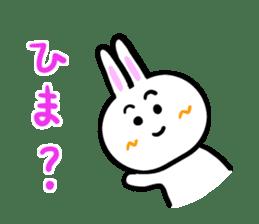 Rabbit tells. sticker #6020479
