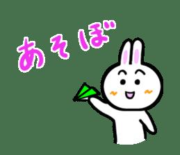 Rabbit tells. sticker #6020482