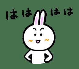 Rabbit tells. sticker #6020486