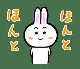 Rabbit tells. sticker #6020488