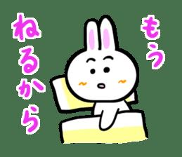 Rabbit tells. sticker #6020497