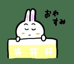 Rabbit tells. sticker #6020498