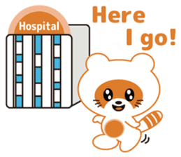 For the patient who goes to the hospital sticker #6024384