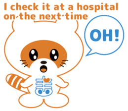 For the patient who goes to the hospital sticker #6024387