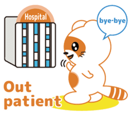 For the patient who goes to the hospital sticker #6024411