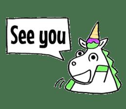 Hello Unicorn sticker #6030635