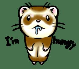 I love ferrets sticker #6034670