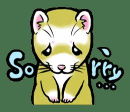 I love ferrets sticker #6034678