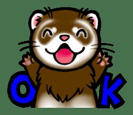 I love ferrets sticker #6034679