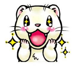 I love ferrets sticker #6034684
