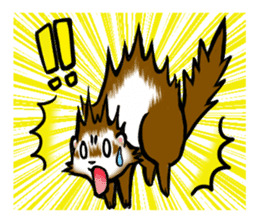 I love ferrets sticker #6034685