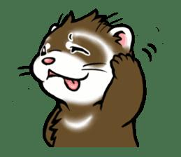 I love ferrets sticker #6034688