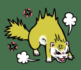 I love ferrets sticker #6034689