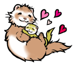 I love ferrets sticker #6034698