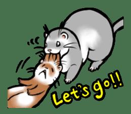 I love ferrets sticker #6034703