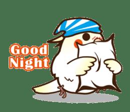 Miss Lovebird-Cockatiel 's home life sticker #6037362