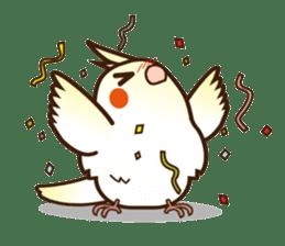 Miss Lovebird-Cockatiel 's home life sticker #6037363