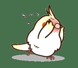 Miss Lovebird-Cockatiel 's home life sticker #6037366
