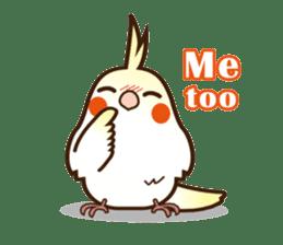 Miss Lovebird-Cockatiel 's home life sticker #6037376