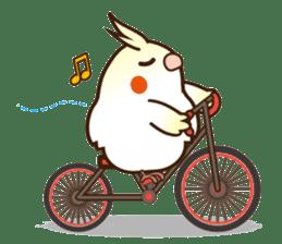 Miss Lovebird-Cockatiel 's home life sticker #6037384