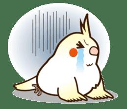 Miss Lovebird-Cockatiel 's home life sticker #6037392