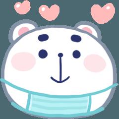 สติ๊กเกอร์ไลน์ N9: หมีอ้อน อยู่บ้าน