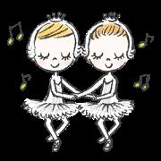 สติ๊กเกอร์ไลน์ Happy Ballerina