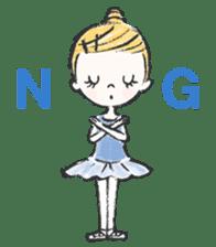 Happy Ballerina sticker #6043923