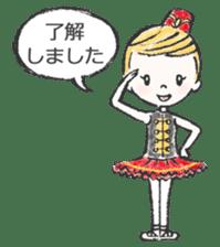 Happy Ballerina sticker #6043924