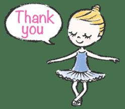 Happy Ballerina sticker #6043925