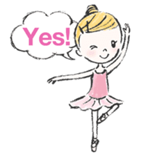 Happy Ballerina sticker #6043927