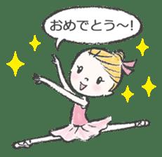 Happy Ballerina sticker #6043932