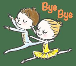 Happy Ballerina sticker #6043936