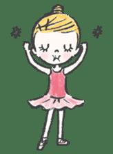 Happy Ballerina sticker #6043938