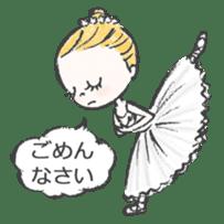 Happy Ballerina sticker #6043941